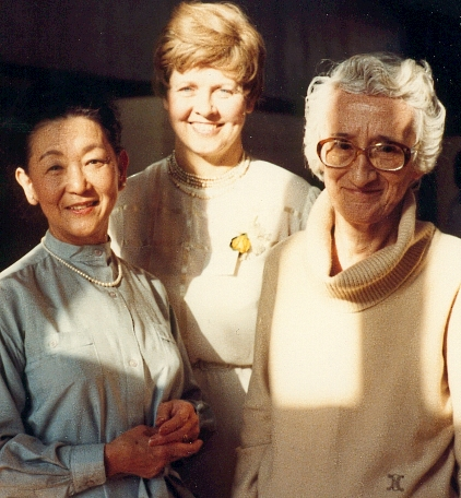 Left to right: Ruth Yamada, Betty-June Bilkey, and Marjorie Pigott